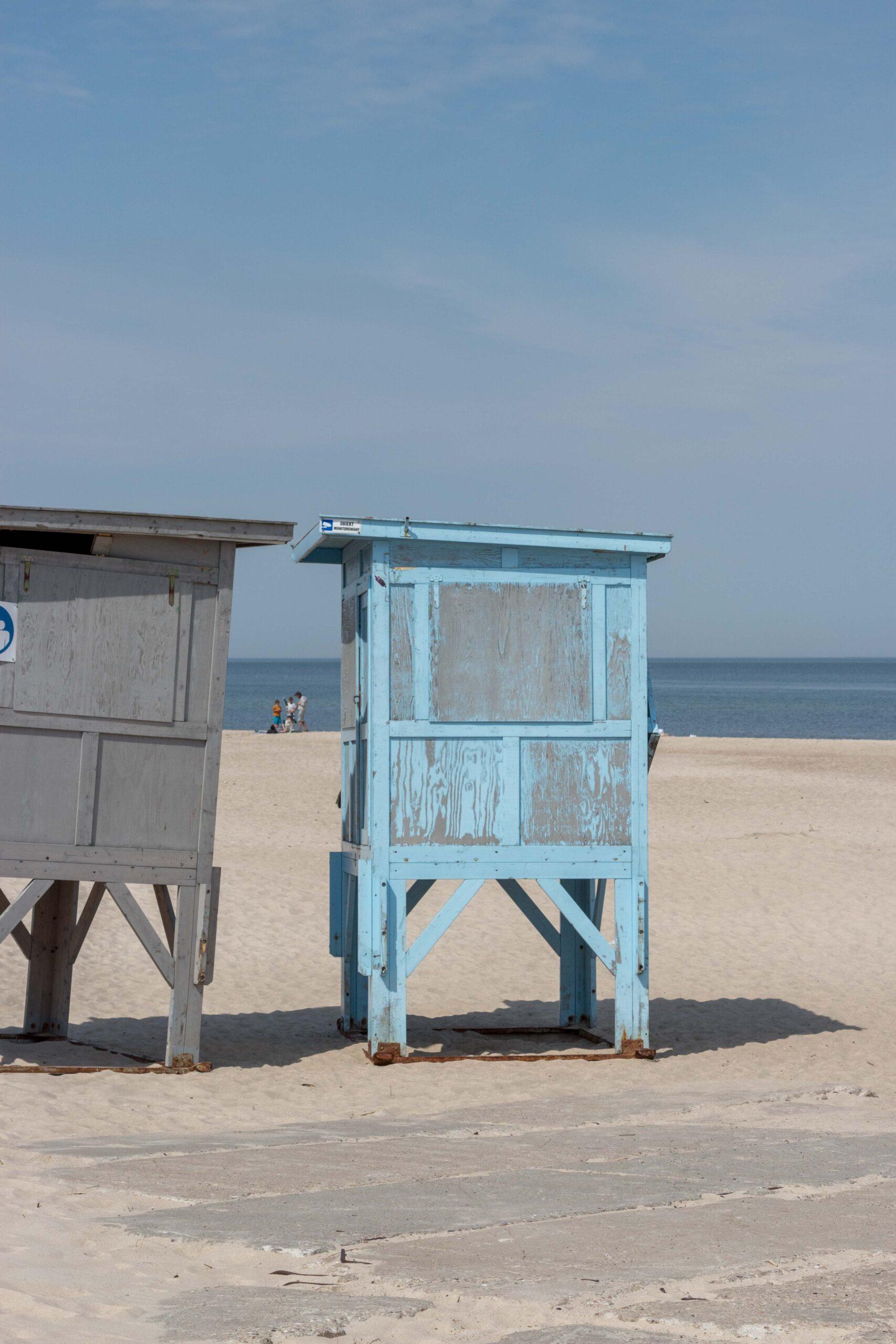 Zachodnia plaża w Ustce